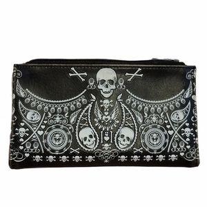 Loungefly skull bandana wallet